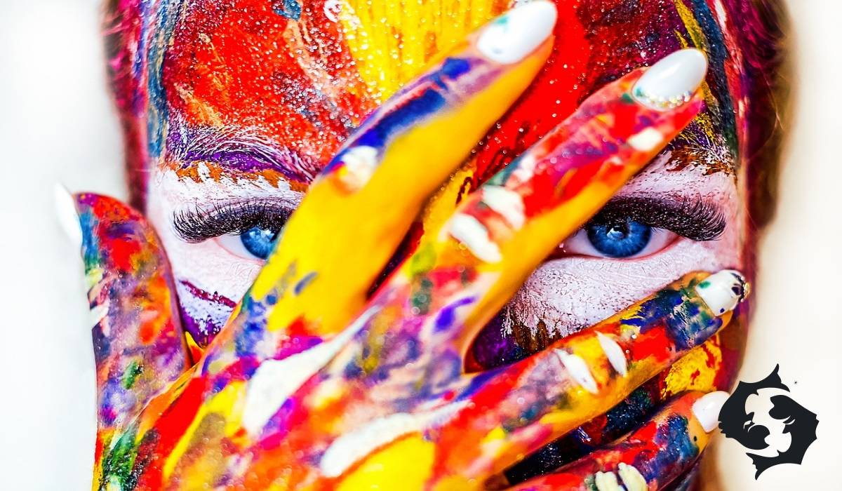 colourful woman face