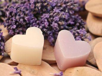 Heart lavender soap