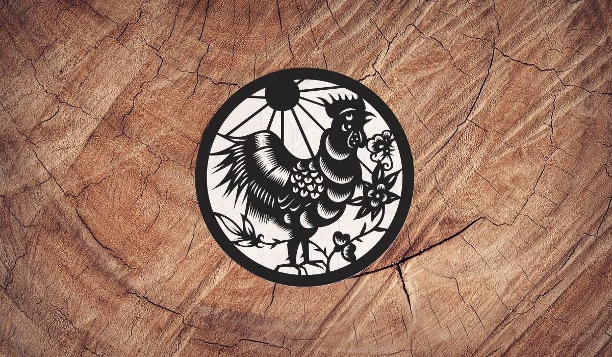 Wood Rooster