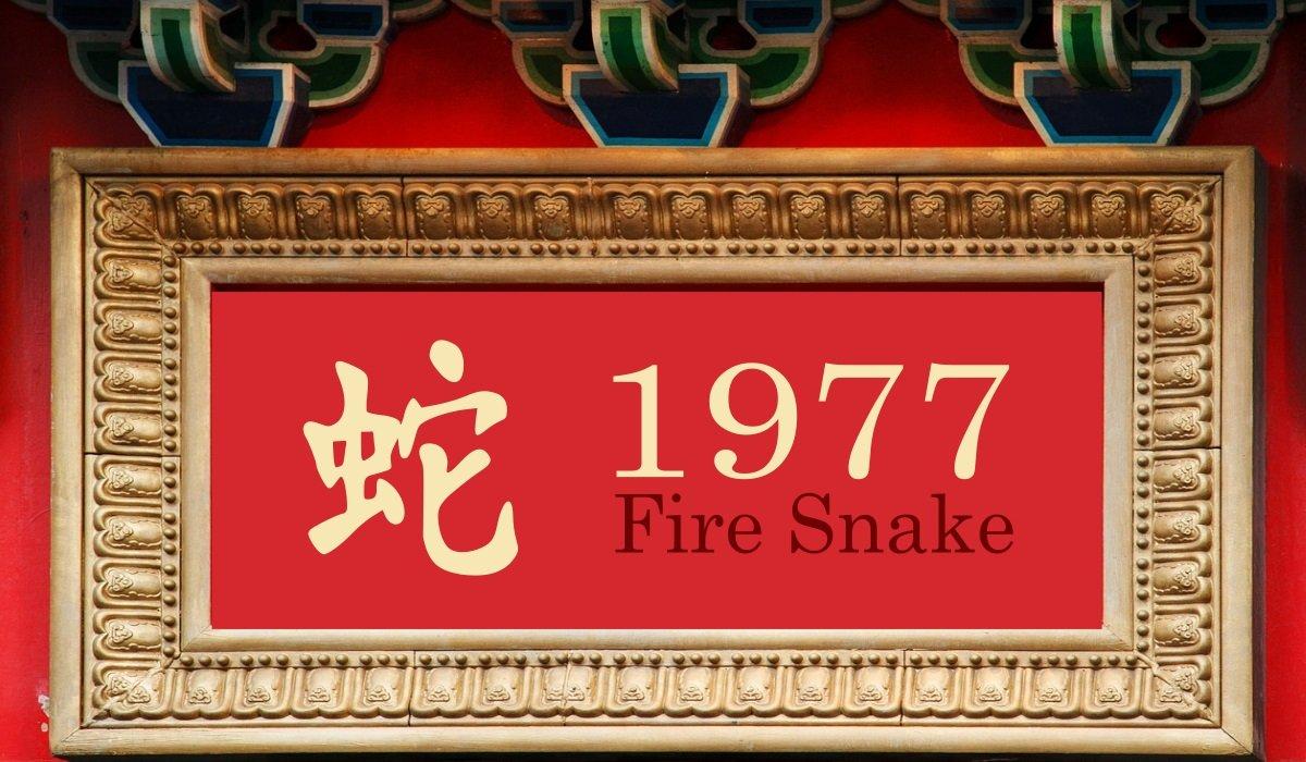 1977 Chinese Zodiac Fire Snake Year Personality Traits