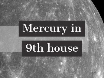 Mercury in 9th house