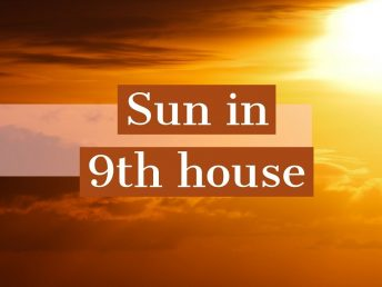 Sun in 9th house